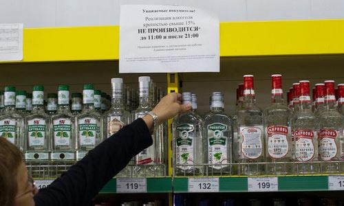 Вывеска о периодическом запрете продажи алкоголя