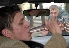 Распитие спиртных напитков за рулем