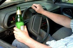 Употребление алкоголя за рулем автомобиля