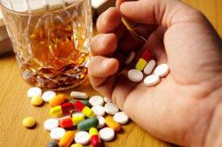 Алкаголь с таблетками