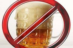 Исключение алкогольных компонентов из жизни