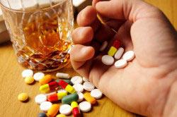 Прием таблеток вместе с алкоголем