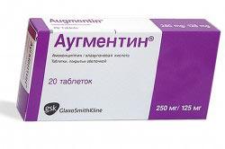 Таблетки антибактериального действия Аугментин