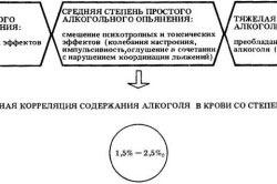 3 степени алкогольного опьянения