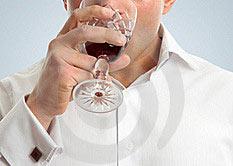 Употребление алкоголя.