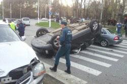 Автомобильная авария по вине пьяного водителя
