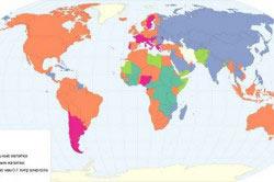 Карта популярности видов алкогольных напитков