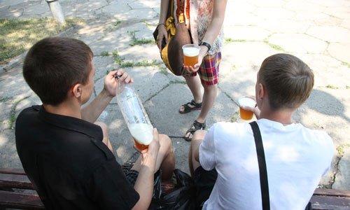 Распитие пивных напитков в общественных местах