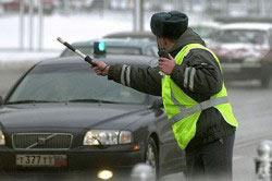 Остановка водителя сотрудником ГИБДД для прохождения теста на алкогольное опьянение