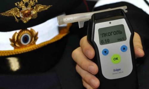 Проверка на алкотестере