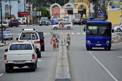 Левостороннее движение автотранспорта
