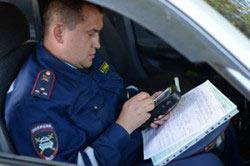 Оформление протокола перед проведением проверки на наличие спиртного в организме водителя