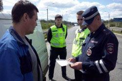 Задержание сотрудниками ДПС пьяного водителя